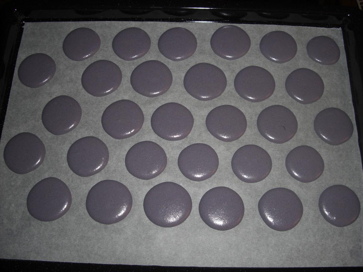 Coques macarons avant cuisson