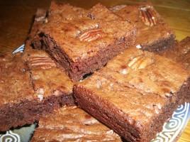 Brownie noix de pécan, pralin et pépite de chocolat