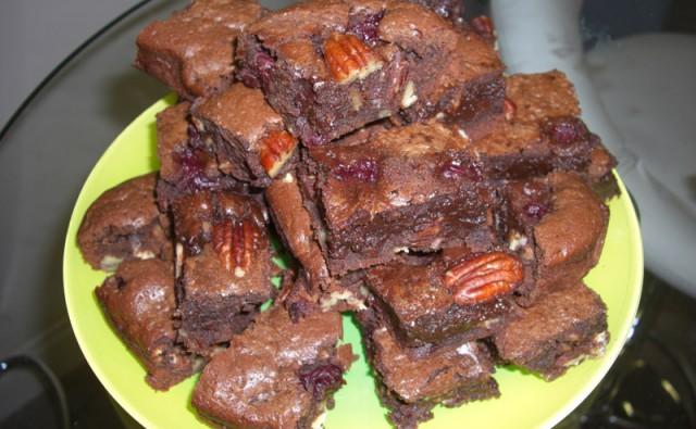 Brownie aux cerises